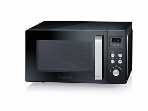 Micro-ondes + Gril - SEVERIN 3-en-1, 900 W, Avec gril et fonction air chaud, Avec plateau rotatif (Ø 27 cm) et Gril, MW 7752, Noir