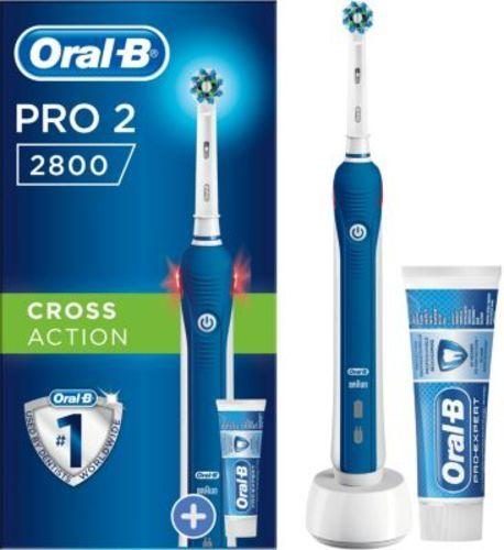 Brosse à dents électrique - Oral-B PRO 2800 Cross Action + 1 dentifrice