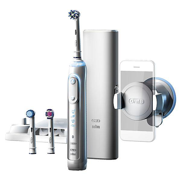 Brosse à dents électrique - Oral-B Genius 8000N Silver Par Braun