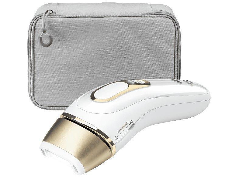 Epilateur à lumière pulsée ou laser - Braun Silk-expert PL5014 Épilateur à lumière pulsée Blanc, Or