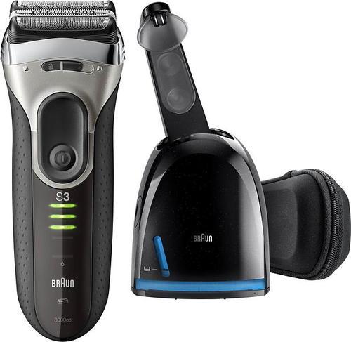 Rasoir électrique pour homme - Braun Series 3 3090cc + Tondeuse Noir, Gris