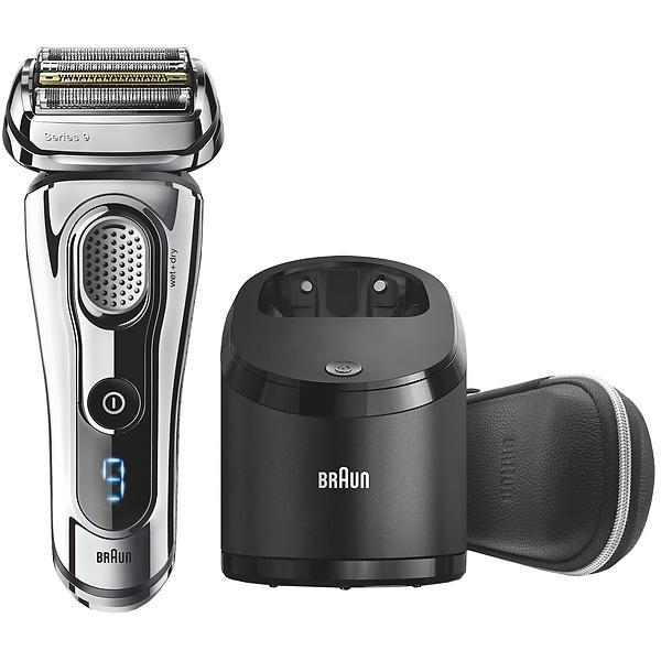 Rasoir électrique pour homme - Braun Series 9 9296cc Wet&Dry + Tondeuse Chrome