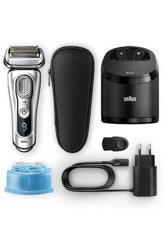 Rasoir électrique pour homme - Braun Series 9 81666401 + Tondeuse Argent