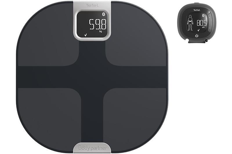 Impédancemètre - Tefal YD3090S1 balance Pèse-personne électronique Noir