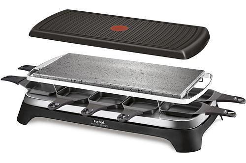 Appareil à raclette - Tefal Inox & Design RE45A8 raclette 10 personne(s) Noir, Acier inoxydable 1350 W