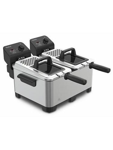 Friteuse électrique - Tefal Double Pro FR3610 friteuse Noir, Acier inoxydable Autonome