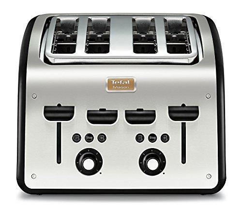 Grille-pain - Tefal TT770811 grille-pain 4 tranches Noir, Acier inoxydable 1700 W
