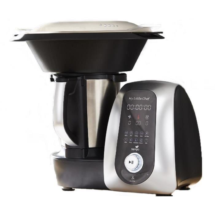 Robot cuiseur - SENYA Robot de cuisine multifonction My Little Chef 13 programmes automatiques 10 Vitesses