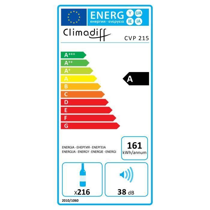 Cave à vin de vieillissement - Climadiff CVP215