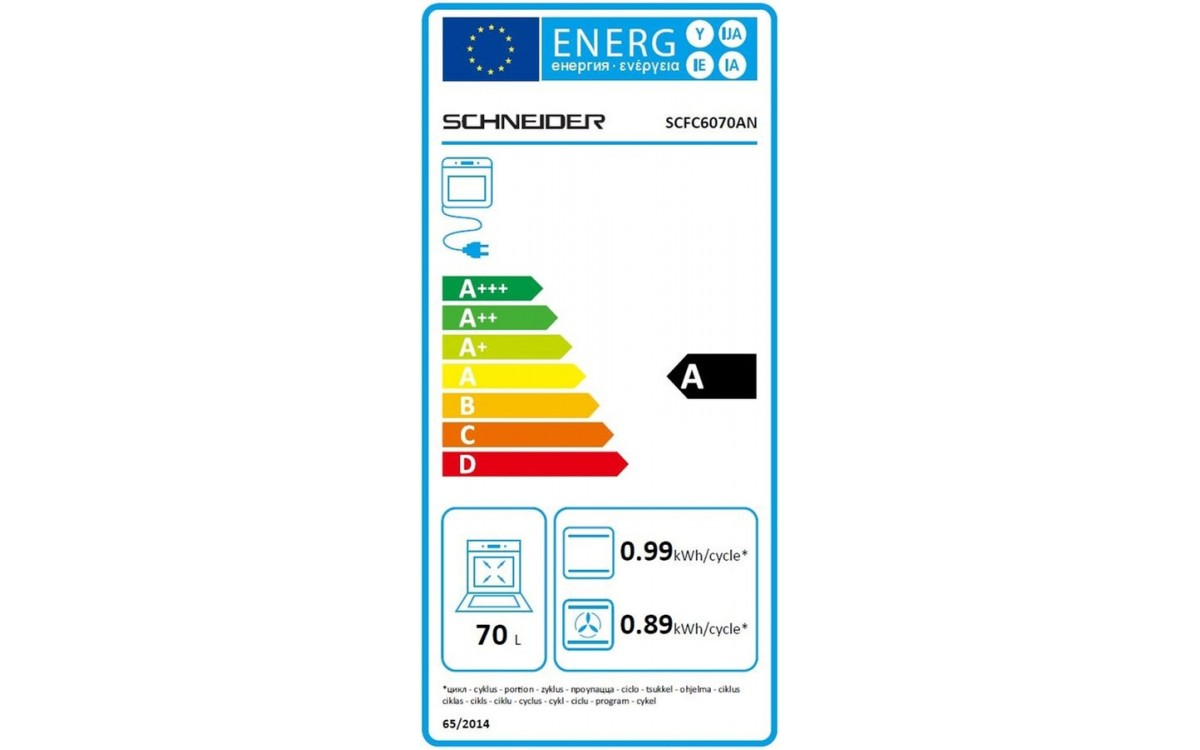 Four électrique encastrable - Schneider SCFC6070AN