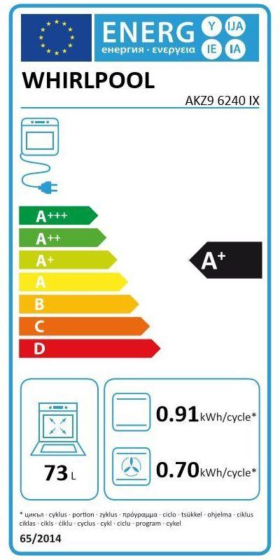 Four électrique encastrable - Whirlpool AKZ9 6240 IX