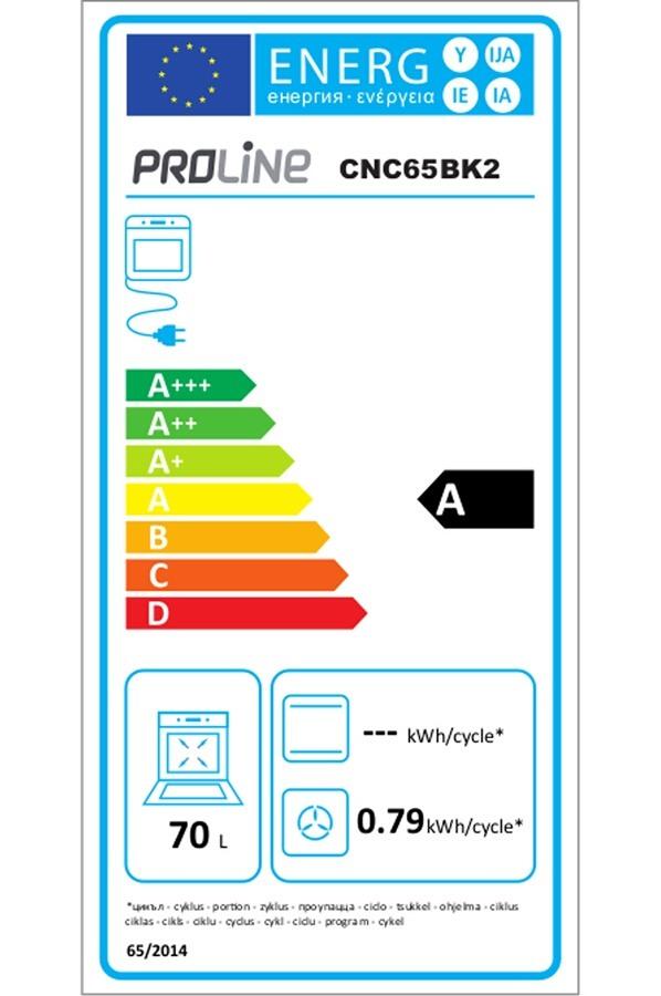 Four électrique encastrable - Proline CNC65BK/2