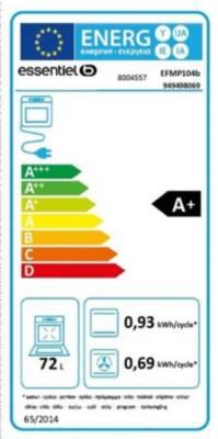 Four électrique encastrable - EssentielB EFMP 104b