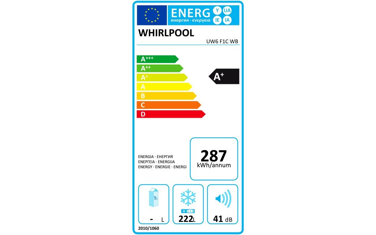 Congélateur armoire - Whirlpool UW6 F1C WB Autoportante Droit Blanc 222 L A+
