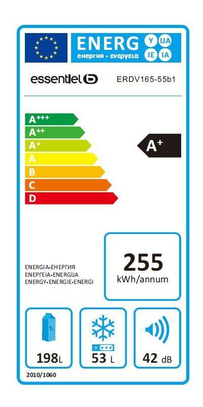 Réfrigérateurs congélateurs (combinés et 2 portes) - EssentielB ERDV 165-55b1