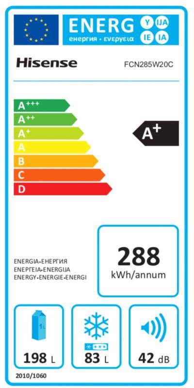 Réfrigérateurs congélateurs (combinés et 2 portes) - Hisense FCN285W20C
