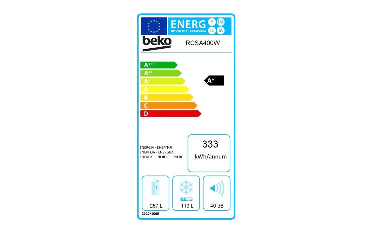 Réfrigérateurs congélateurs (combinés et 2 portes) - Beko RCSA400K31W