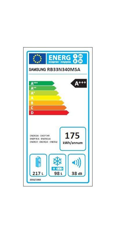 Réfrigérateurs congélateurs (combinés et 2 portes) - Samsung RB33N340MSA
