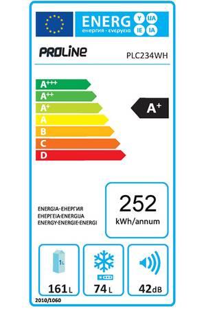 Réfrigérateurs congélateurs (combinés et 2 portes) - ProLine PLC234WH