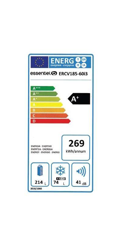 Réfrigérateurs congélateurs (combinés et 2 portes) - EssentielB ERCV 185-60i3