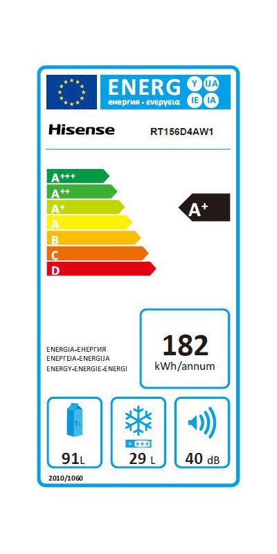 Réfrigérateurs congélateurs (combinés et 2 portes) - Hisense RT156D4AW1