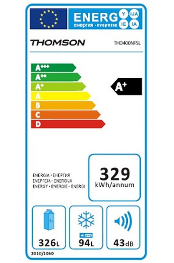 Réfrigérateurs congélateurs (combinés et 2 portes) - Thomson THD 400 NF SL