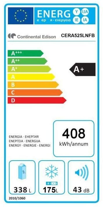 Réfrigérateur américain - Continental Edison CERA525LNFB