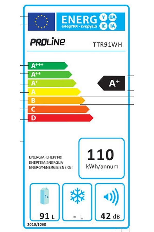 Réfrigérateur top / mini - ProLine TTR91WH
