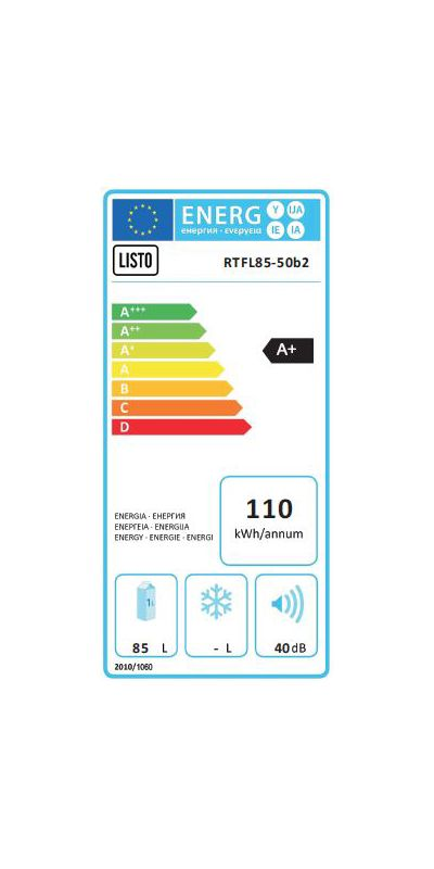 Réfrigérateur top / mini - Listo RTFL85-50b2