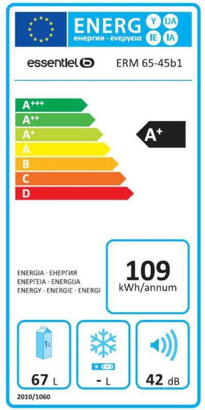 Réfrigérateur top / mini - EssentielB ERM 65-45b1