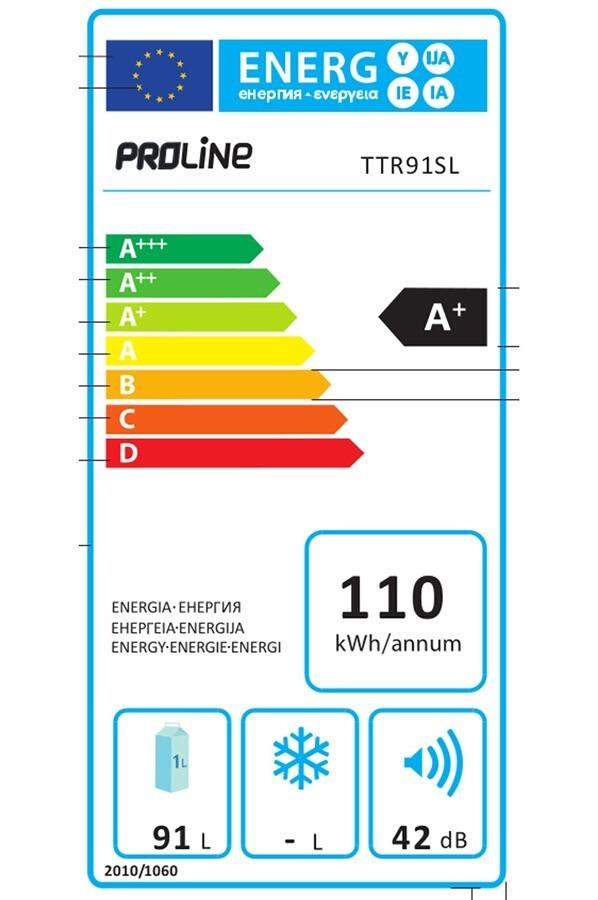 Réfrigérateur top / mini - ProLine TTR91SL