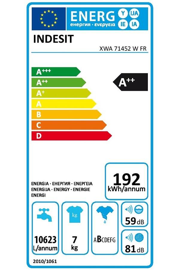 Lave-linge hublot - Indesit XWA 71452 W FR