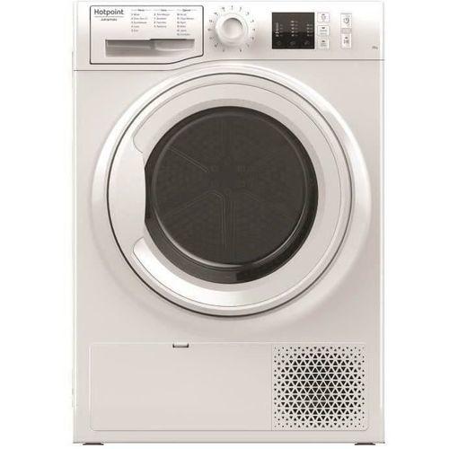 Sèche-linge pompe à chaleur - HOTPOINT NTM1081FR - Sèche linge frontal - 8 kg - Pompe à chaleur - Classe A+ - Blanc - Moteur induction
