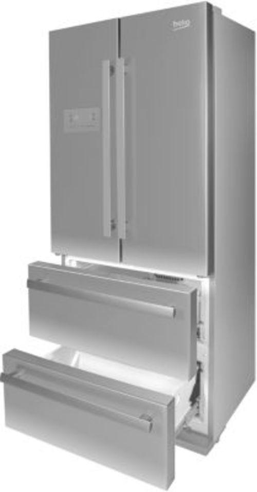 Réfrigérateur américain - Beko GNE6039XP