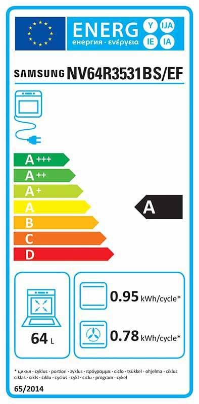 Four électrique encastrable - Samsung Nv64r3531bs/ef